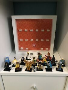 LEGO 71011 MINIFIGURE SERIES 15 FULL SET OF 16 MINIFIGURES With Display Frame