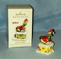 "2006 Hallmark Dr Seuss The Grinch Who Stole Christmas ""Grinchy Claus"" Ornament"