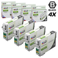 LD Reman Replacement T069120 for Epson T069 69 Set of 4 Black Inkjet Cartridges