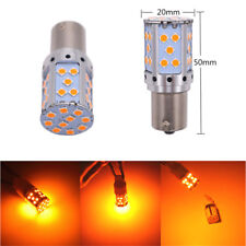 2 Pcs Car Auto 21W Front & Rear Turn Signal Light Bulbs BAU15s Amber LED Lamp