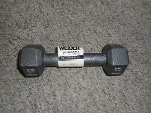 Weider 5 LB Cast Iron Dumbbell New
