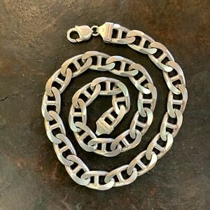 Heavy & Chunky Mariner Link Sterling Silver Chain