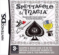 SPETTACOLO DI MAGIA GIOCO NUOVO NINTENDO DS-DSI-DSI XL-3DS IN VERSIONE ITALIANA