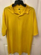 Nike Golf Fit-Dry Yellow horizontal pin-striped Polo men's size XL