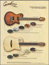 Godin Guitar ad the LGXT & Multiac Nylon SA 8 x 11 advertisement print