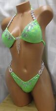 COMPETITION FIGURE-POSING-SUIT-NEON-GREEN-HOLOGRAM