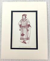 1889 Antico Stampa Merry Wives Di Windsor Personaggio Gentleman Ford Shakespeare