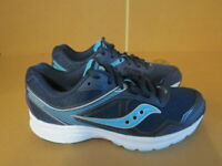 WOMENS SAUCONY GRID COHESION 10 BLUE WHITE RUNNING SHOES SIZE 7.5M A708
