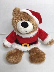 Hallmark Plush Christmas Bear Jingle Bell Santa Teddy Plush 12 inch Teddy Bear
