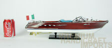 "Riva Aquarama 20"" Handcrafted Wooden Model Boat"
