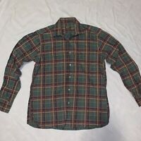 Gitman Brothers Vintage Plaid Flannel Button Down Size Medium Made In USA