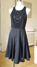 Next Black Embellished Gladiator Black Skater Party Occasions Dress Size 8