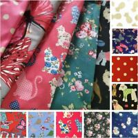 100% Craft Sewing Cotton Patchwork Material Metre Half Meter Fabric UK