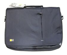 "Case Logic 17"" Notebook Messenger Bag Black With Padded Accessory Pockets - NWT"