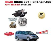 FOR RENAULT GRAND ESPACE 2003-2010 REAR BRAKE DISCS SET AND DISC PAD KIT BEARING