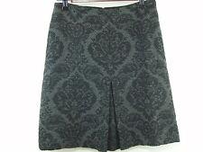 Ann Taylor Gray Wool A Line Skirt - Above Knee - Demask Pattern - Women's Size 0