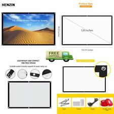 Portable Movie Screen for Projector 120 Inch 16 9 Outdoor Foldable Home Theater