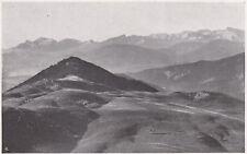 D5842 Le Alpi Apuane vedute dal Cardosello - Stampa d'epoca - 1932 vintage print