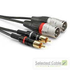 SOMMER CABLE Basic+ 1,5m XLR Stecker auf Cinch Instrumentenkabel | HBP-M2C2-0150
