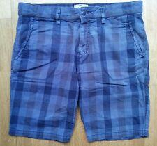 Men's ESPRIT SHORTS blue checked 100% cotton UK32 VGC