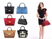 New Women Designer Leather Style Celebrity Tote Bag Smile Shoulder Handbag