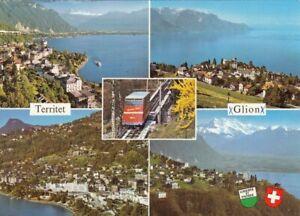 Territet et Glion, Waadt,Mehrbildkarte gl1985 F4347