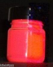 UV Glow Neón Barato Pintura acrílica Fluorescente - 30ML-Rojo