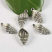 12pcs Tibetan silver Conch Shells pendant h0457