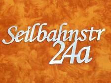 Hausnummer aus Edelstahl Straße-Hausnummer