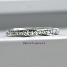 1/5 ct F VS2 natural round diamond women wedding ring solid platinum size 5
