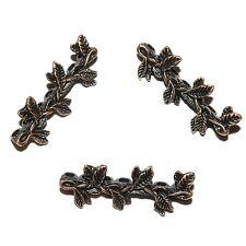 ML390L2 Antiqued Copper 30mm Leaf Branch 7-Strand Spacer Bar Metal Beads 50/pkg