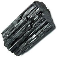 """1 Premium Extra A Grade Shiny Rough Black Tourmaline Rod Log 2.25"""" - 3.15"""" Raw"""