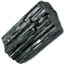 "1 Premium Extra A Grade Shiny Rough Black Tourmaline Rod Log 2.25"" - 3.15"" Raw"