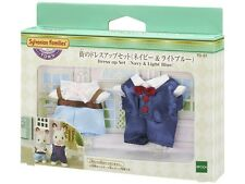 Epoch Sylvanian Families Town Series City Dress Up Set (Navy & Light Blue) JAPAN