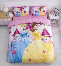 Disney Princess Quilt Doona Duvet Cover Set King Single Queen Size Bedding Linen
