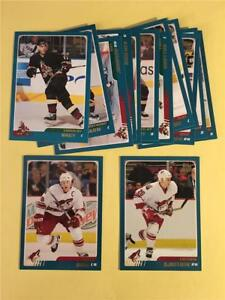 2003/04 Topps Phoenix Coyotes Team Set With Traded 14 Cards