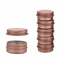 50Pcs Rose Gold Aluminum Containers For Cream Lip Balm Gloss Metal Tin Container