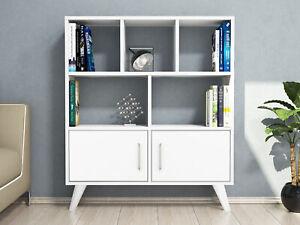 Storage Cabinet Bookshelf Bookcase 5 Cube 2 Doors Display Cupboard Divider XMAS