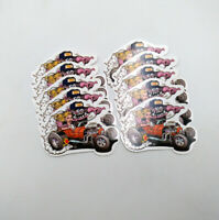 10pcs Big Daddy Ed Roth Rat Fink Decal Girl Car Hot Rods Vinyl Stickers