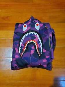 Bape WGM Shark Hoodie Purple Camo Size XL (READ DESCRIPTION)