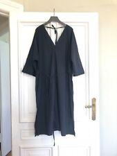 COS Kleid dunkelblau Kimono Kaftan Baumwolle Sommerkleid Gr. L (42-44)