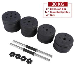 30KG Dumbells Free Weights Dumbell Pair Set Adjustable Gym Workout Body Building