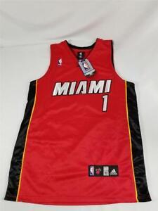 NWT Adidas Chris Bosh #1 Mens Size 52 NBA Miami Heat Red Swingman Jersey