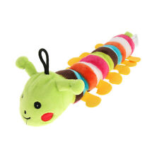 Caterpillar Dog Squeaky Plush Toy for Big Medium Small Dogs Chewing Green