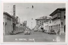 RP Postcard Bank of America & Street Scene in El Centro, California~105958