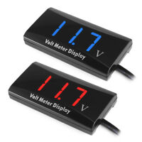 12V Digital LED Display Voltmeter Voltage Gauge Panel Meter Car Motorcycle Super