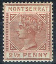 Mint Hinged Victoria (1840-1901) Montserratian Stamps