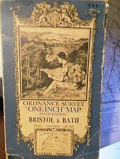 BRISTOL,BATH,MENDIPS:SOMERSET: 1930'S ELLIS MARTIN PICTURE COVERED ORDNANCE MAP