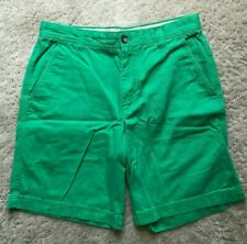 Mens Izod Saltwater Kelly Green Shorts Size 32 Flat Front