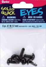 Shank Back Solid Eyes 12mm 6/Pkg Black 082676128158
